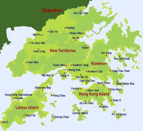 map of hongkong