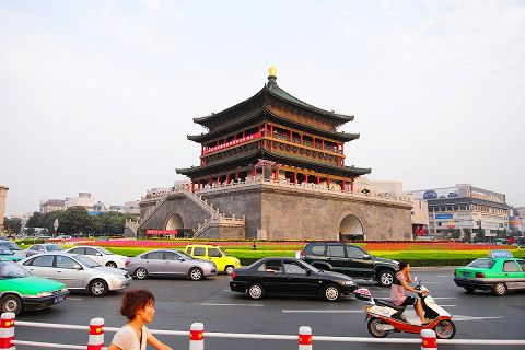 Bell tower in the center of Xi'an city
