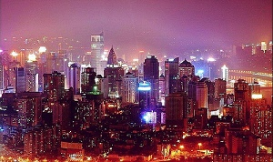 High Buildings at Night