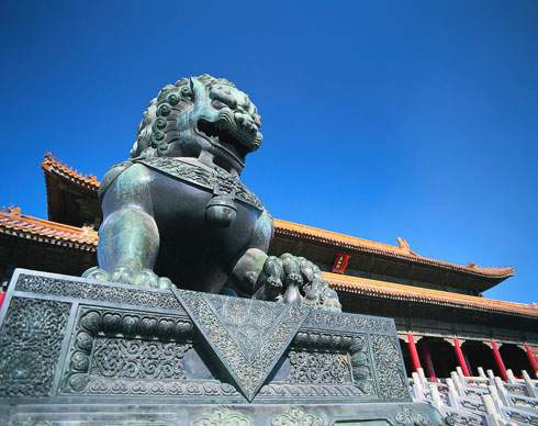 Stone Lion in Forbidden City