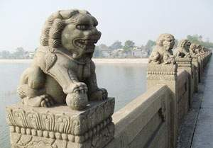 Stone Lion on Lugouqiao Bridge
