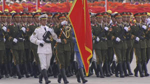 Inspection of Troops on National Day in 1999