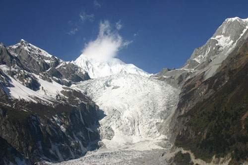 The Grand Glacier Waterfall