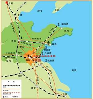Shandong Transport map