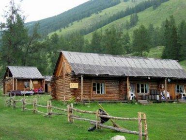Wood Cabins Where Tuwa People Live