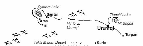 Location of Sayram Lake