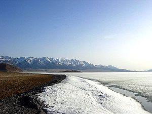 Sayram Lake in Winter