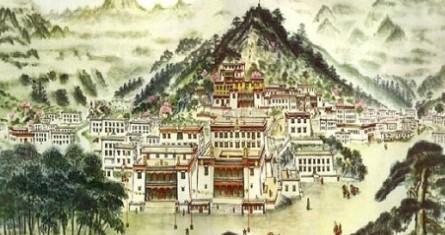 panorama of Wudangzhao Monastery