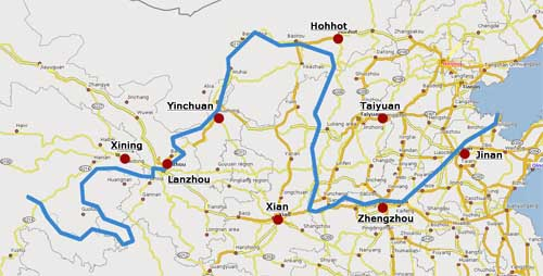 Map of Yellow River