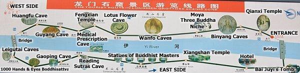 Main Caves & Tourist Route at Longmen Caves