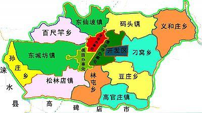Map of Zhuozhou