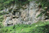 Coffins on Cliff