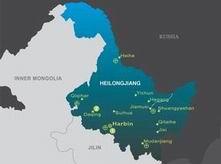 the Map of Heilongjiang