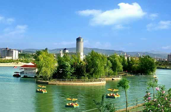 Beautiful view of Sanmenxia City