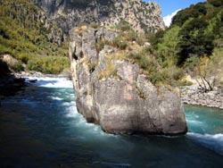 The pillar rock in midstream