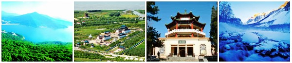 Scenery in the west and east of Jilin