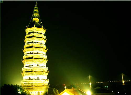 Zhenfeng Pagoda in The Night