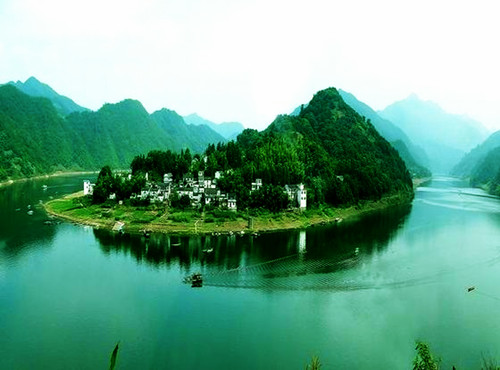 Xin'anjiang River in She County