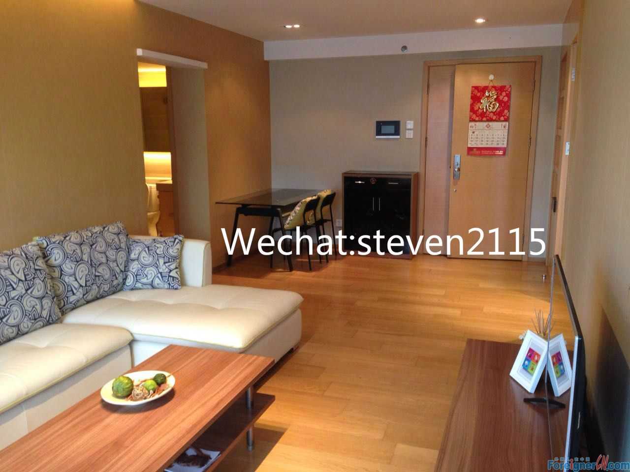Brand new furniture apt modern and clean in zhujiang new town (high floor and quiet )
