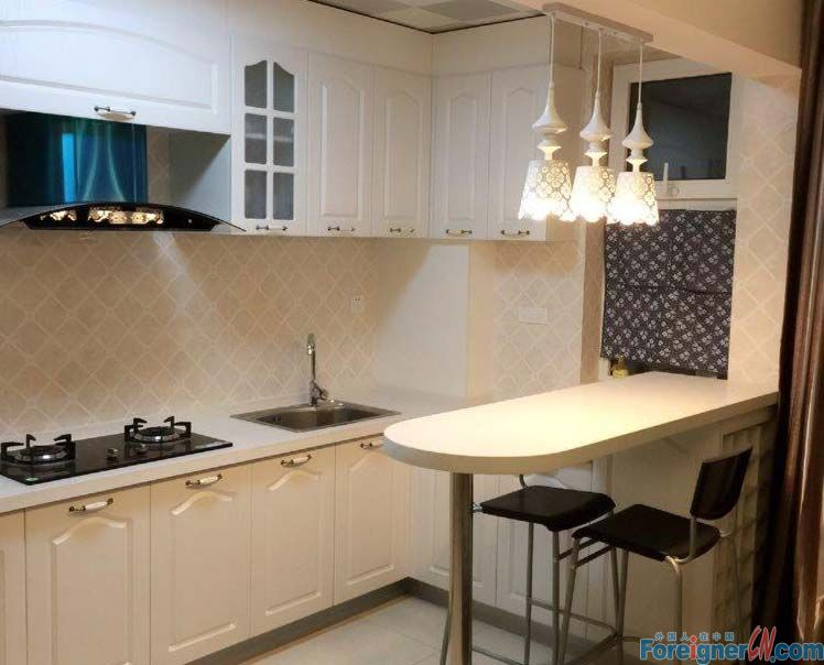 one flat with open kitchen and bedroom in Tiexi