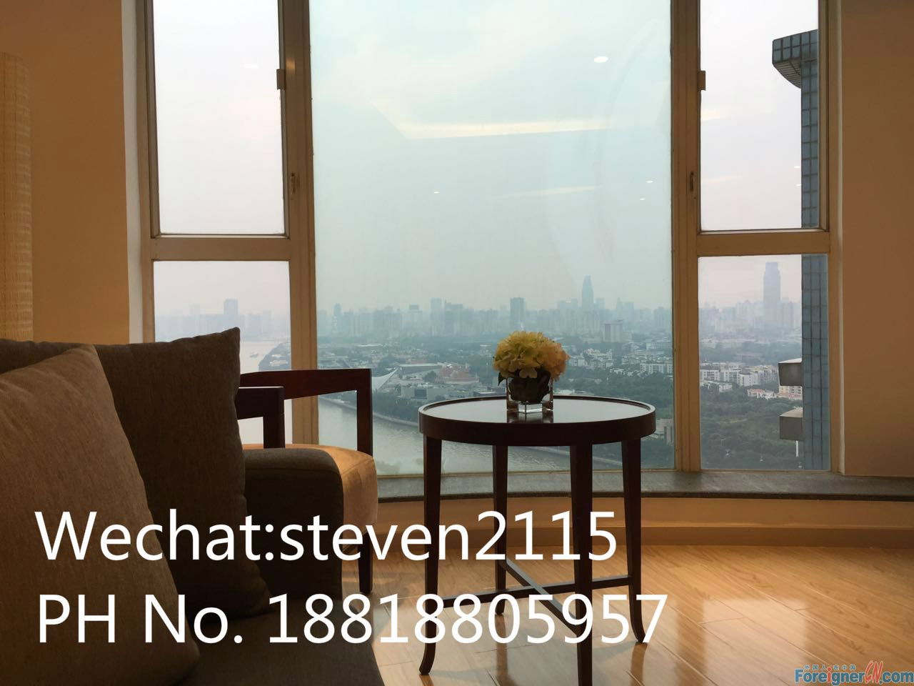 Brand new luxury 1BR amazing view to Pearl River near Canton Tower
