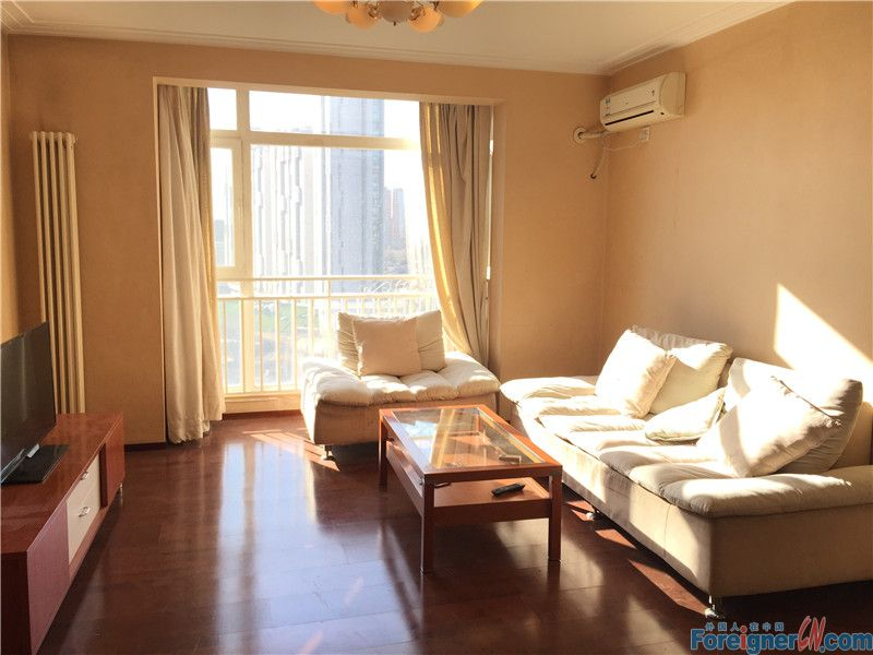 2bedrooms,Crystal Apartment ,next to subway station. only 9500rmb per month,jiuxinqiao