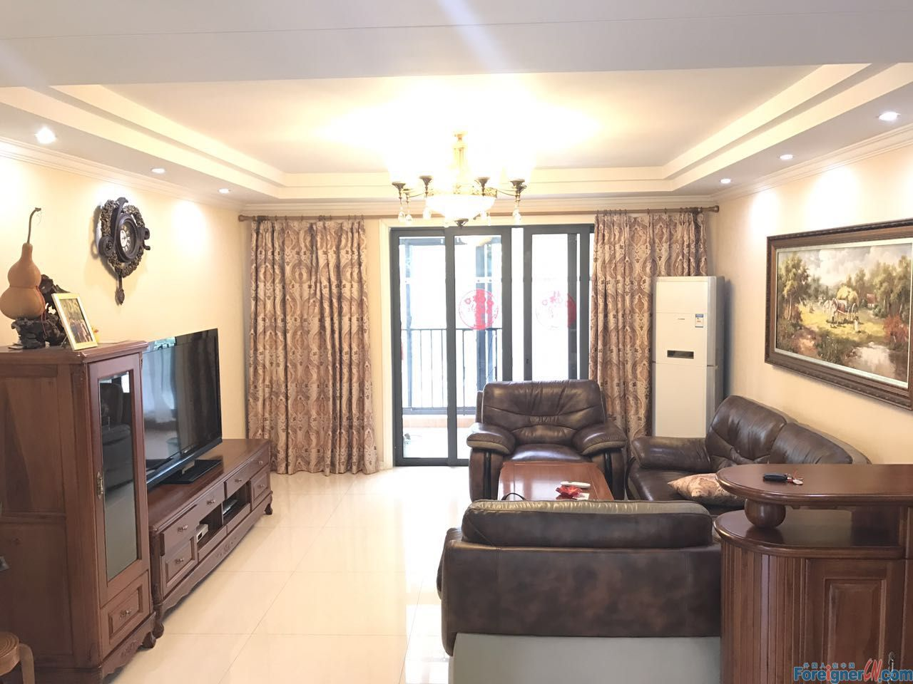 Times square, floor heating 4rooms, very nice furniture, good condition, mature community
