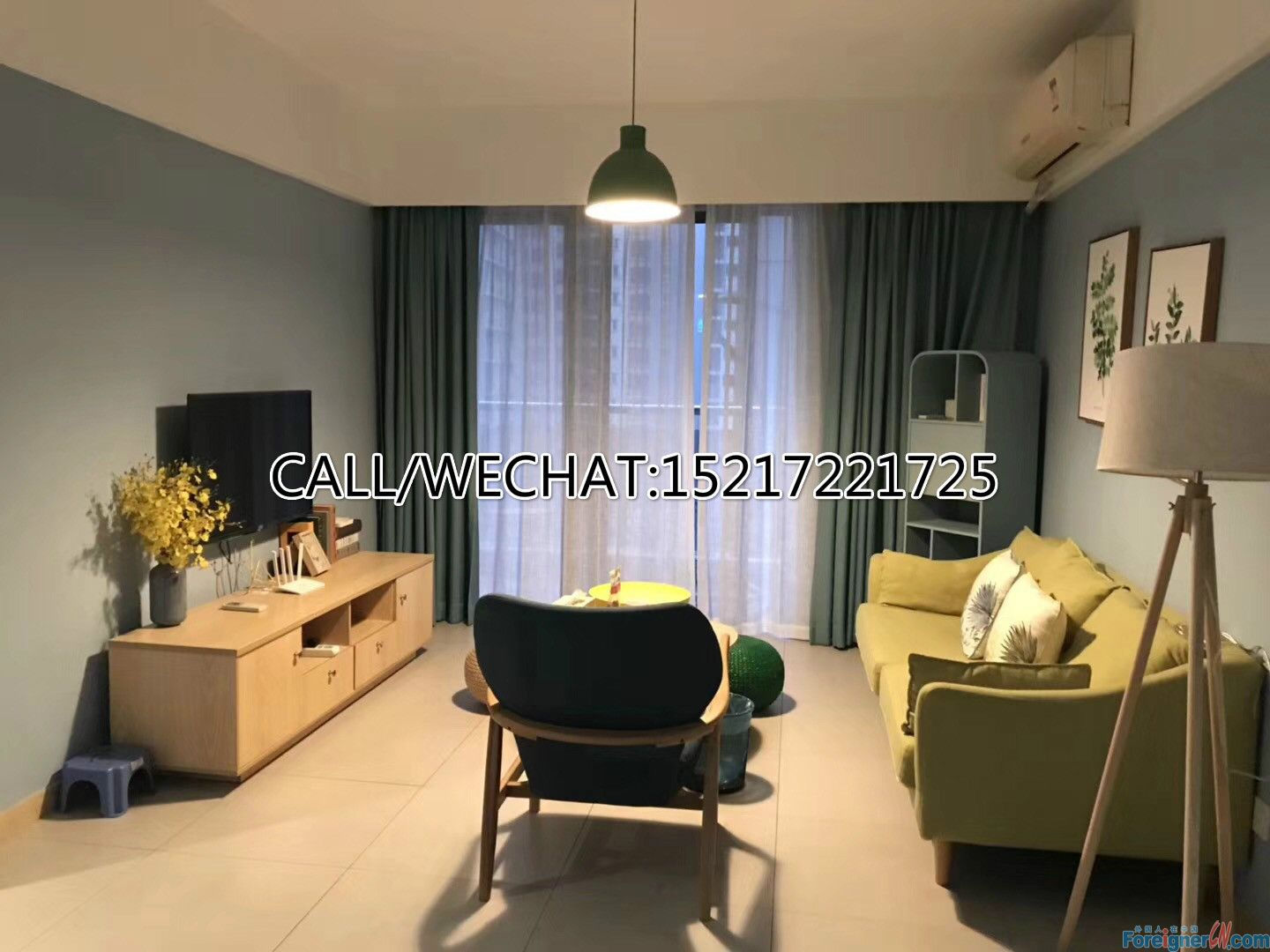 Brand new 2bedrooms for rent in Tancun (ZhuJiang New Town)new modern ,new Ikea furniture