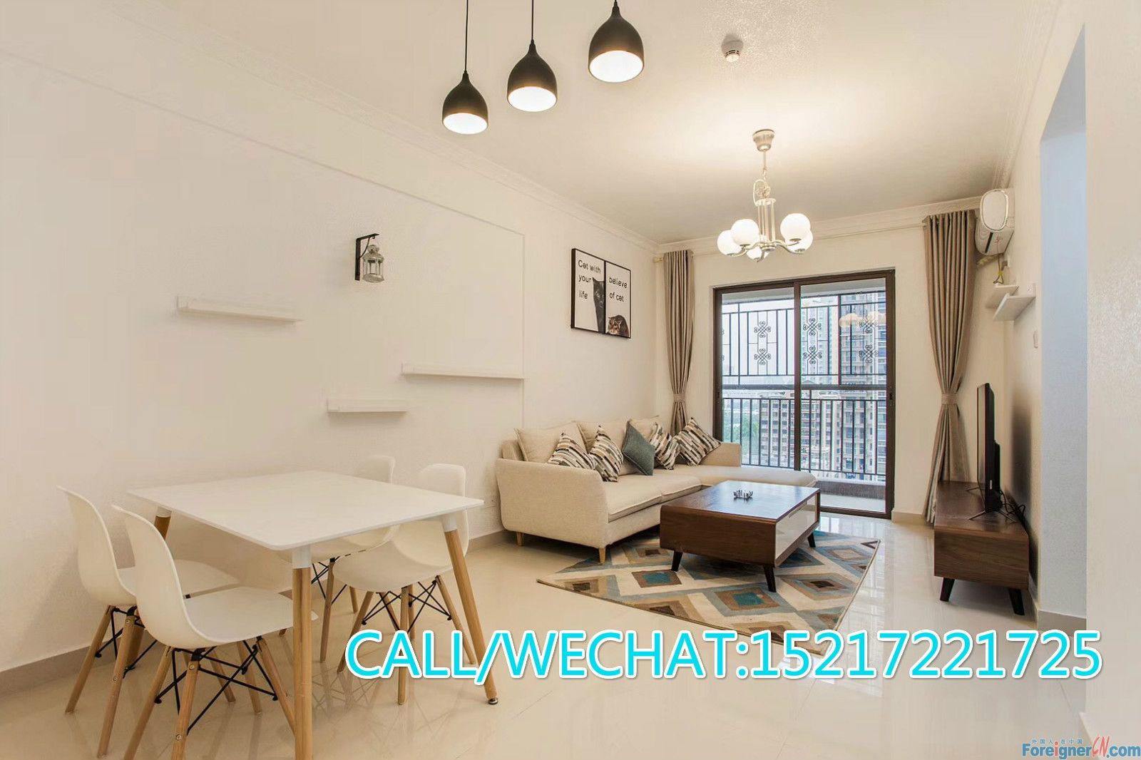 newly 3bedrooms for rent in Tancun (ZhuJiang New Town)new modern ,new Ikea furniture,high floors
