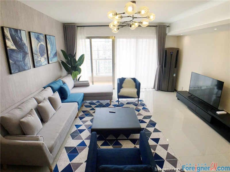 Parkvista apartment-4Br,New building,with sky garden,safe security,Near to the Zhujiang New Town Commercial Walking Street.