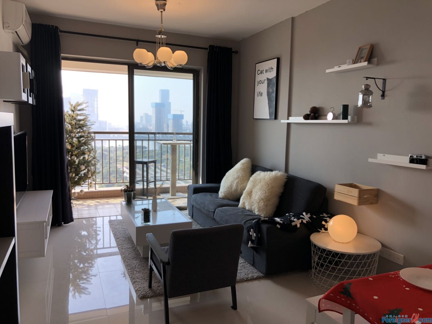 new and modern apt with river view near Tancun metro station