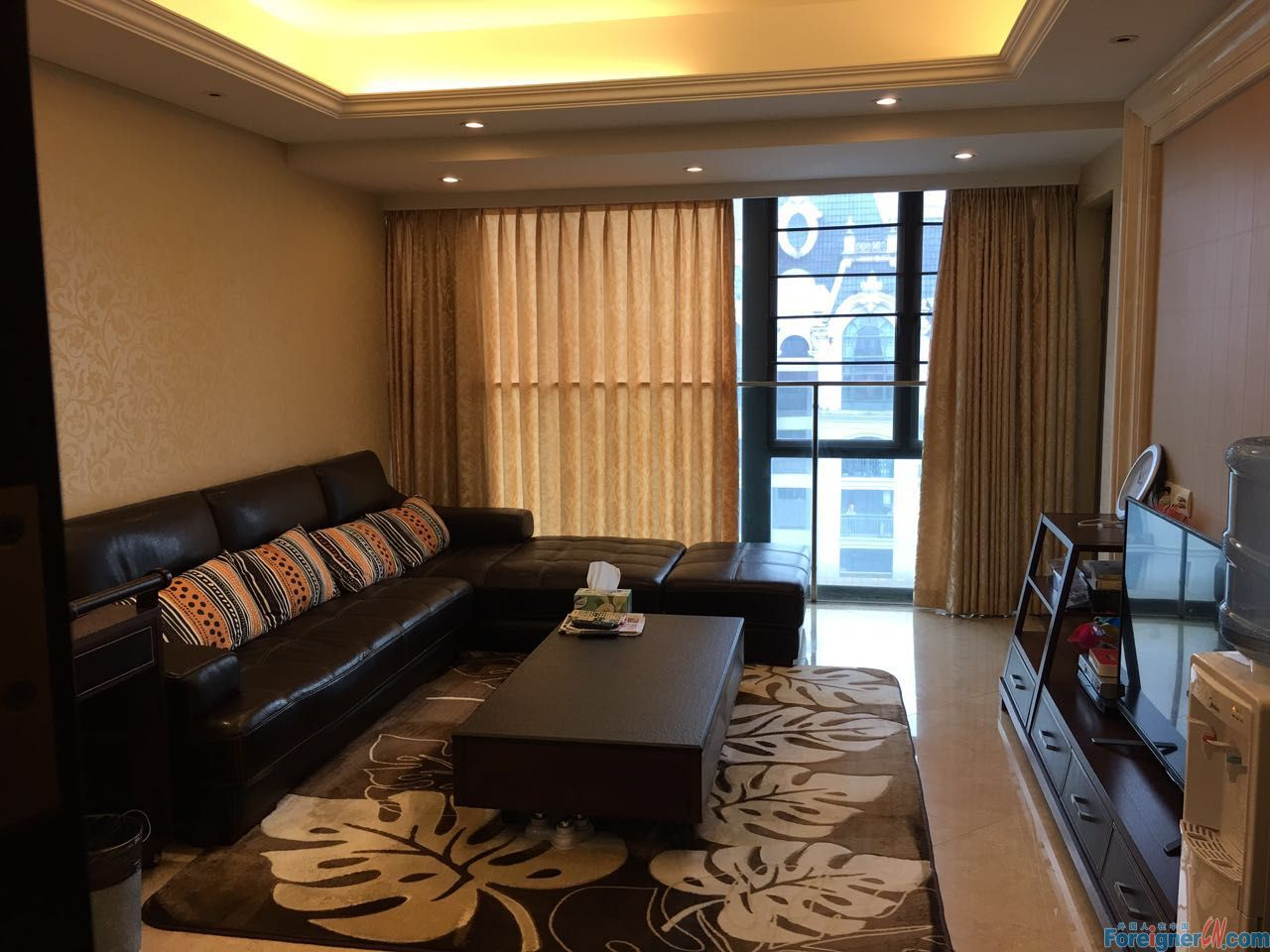 Pear River Garden-nice 2brs,fully furnished,high floor,wonderful view,CBD area.