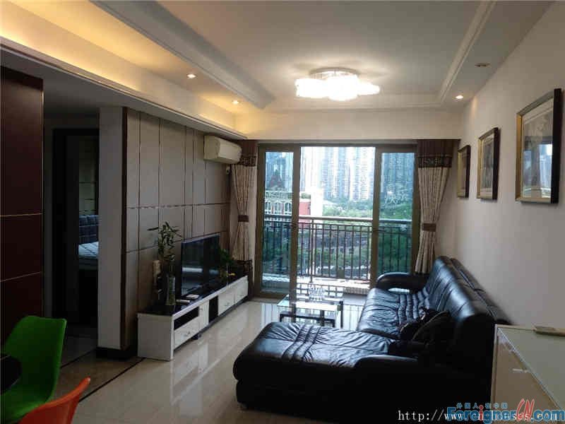 nice 2brs,fully furnished,  morden style,  facing Zhujiang Park, wide view,can see Canton Towner.