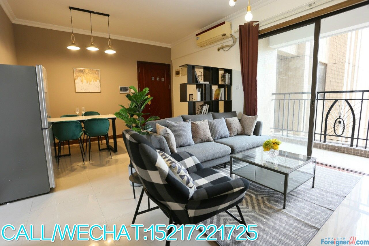Morden 2brs,fully furnished,almost new,high floor,facing garden,quiet place,city center,convenient.