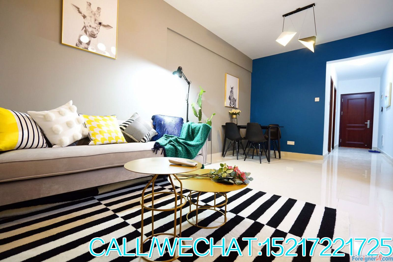 Nice 2brs,new furnitures,high floor,wonderful view,clean and bright,morden and cozy,CBD area.convenient.