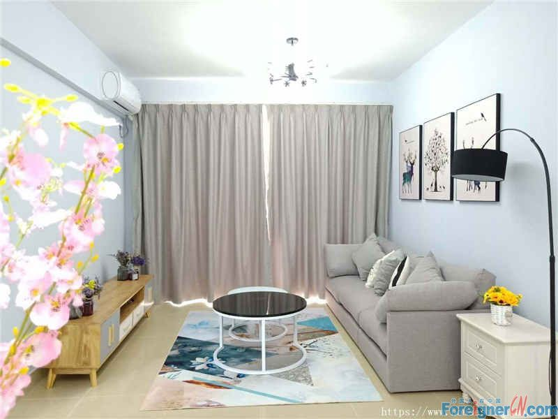 cozy 2brs, new did not live, big size, fully new decorate, fully furnished, high quality, suitable for living.