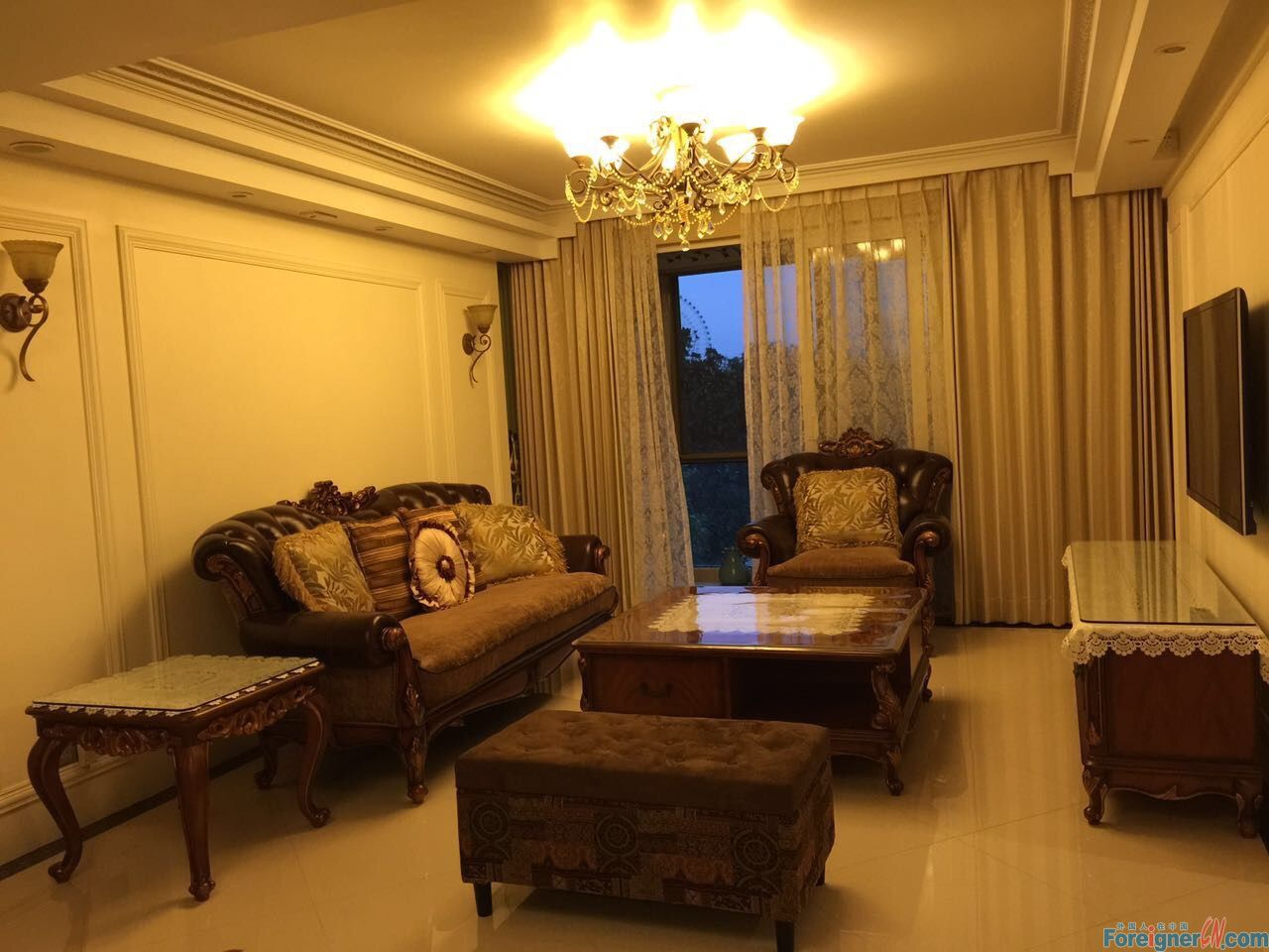Terrific!Living Bank-3brs-have American style furniture-near metro-fully furnished