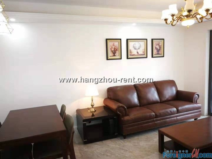 Three Bedrooms Apartment Close to Olympic Center of Hangzhou for Rent