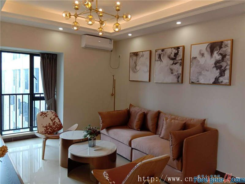 Cozy 2brs, fully furnished, high floor, good city view, 5 minutes walking to subway station.
