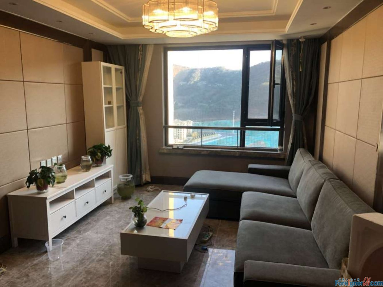 2 bed apartment for rent in Four Seasons Shangdong,Donggang,Zhongshan.