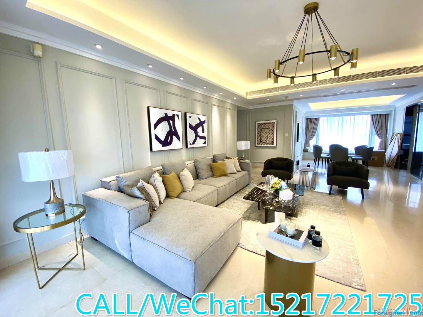 Luxurious decoration 4brs avaliable now,huge living room,good condition,City center.