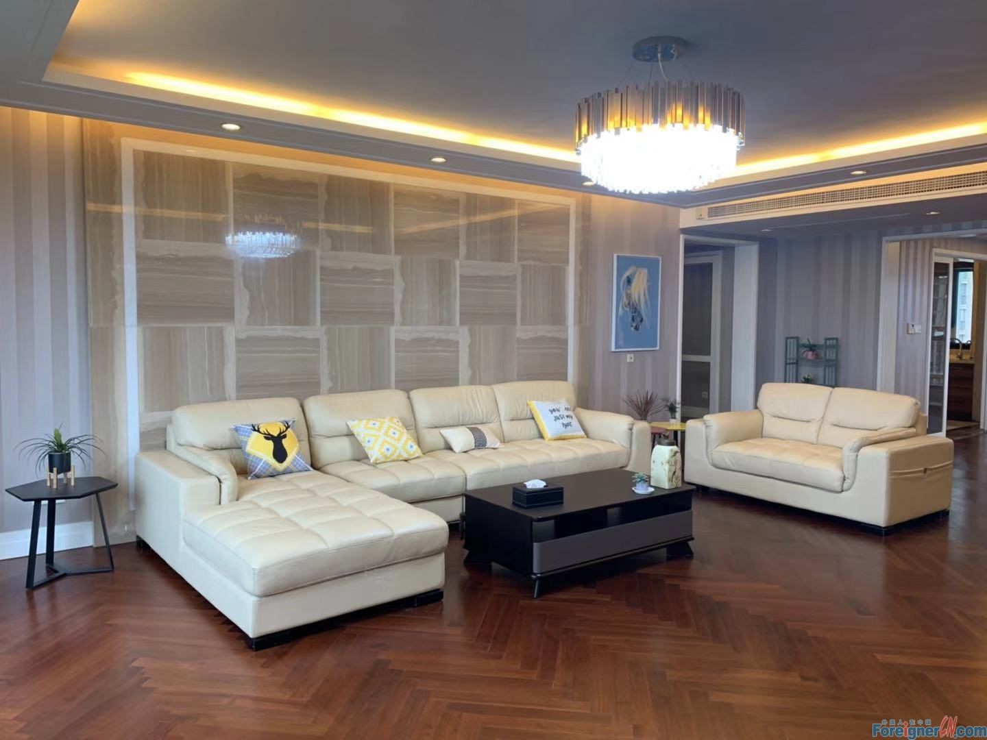 Awesome! Find a home in Suzhou-underfloor heating-high floor–close to business circle-luxury decoration