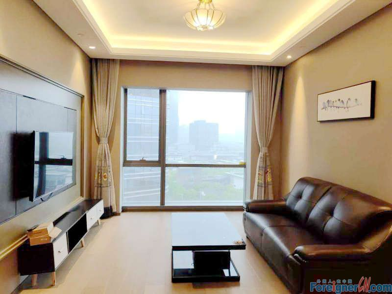 Find an apt in Suzhou-Times Square-1 bdr–elegant decoration-lake view- central AC-convenient traffic