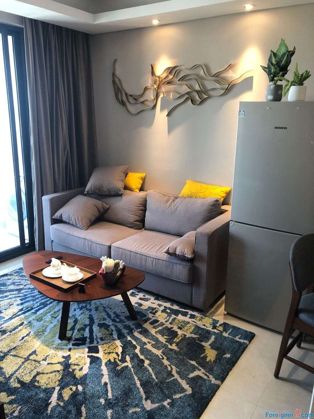 Suzhou SND/Nearby Subway Line3(Shishanlu Station)/Close to Longhu Tianjie/1 Bedroom, 1 Living Room and 1 Bathroom/Modern Western Decoration/Bright and Homely