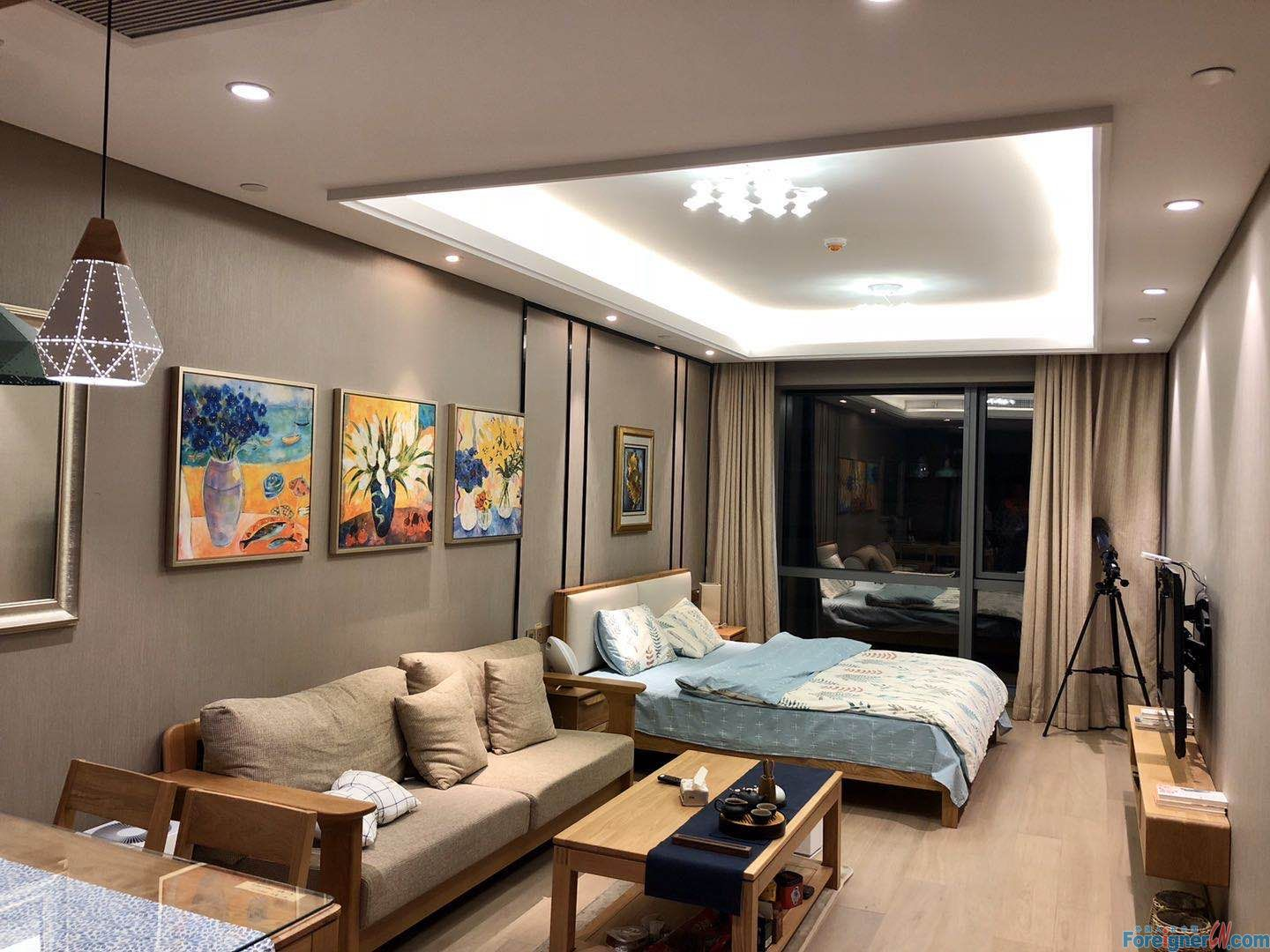 Find an apt in Suzhou-Times Square-1 bdr–elegant decoration-gas stove-cozy- central AC-convenient traffic