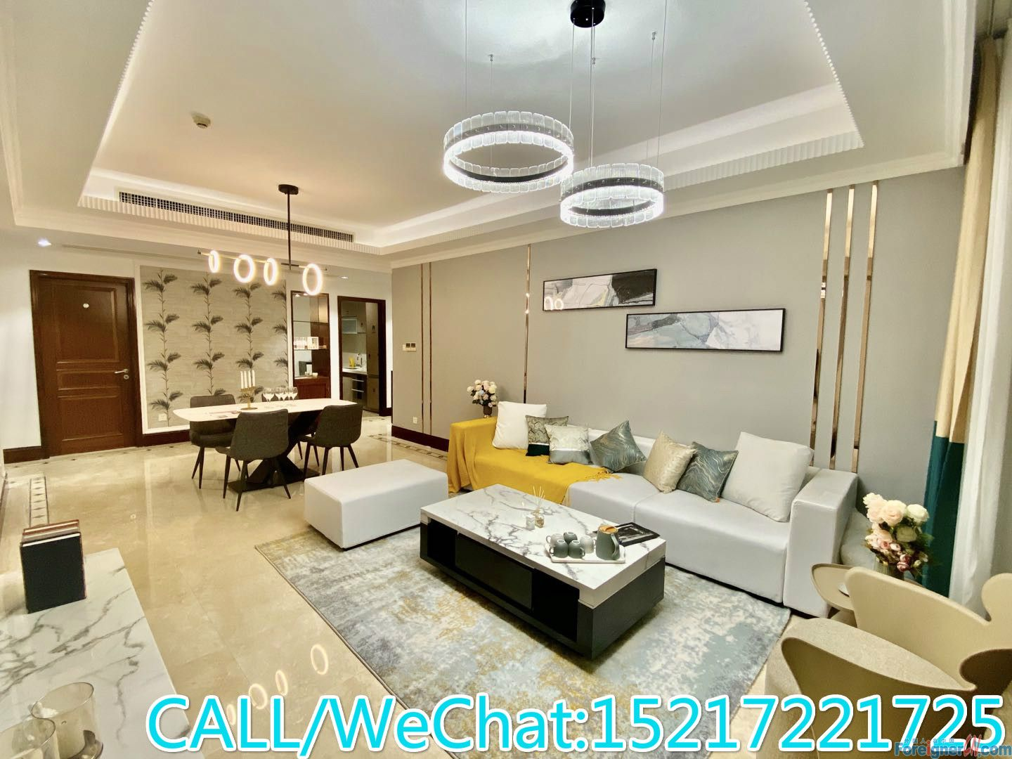 Morden decoration 3brs,fully furnished,high floor,garden view,quiet place,CBD AREA.