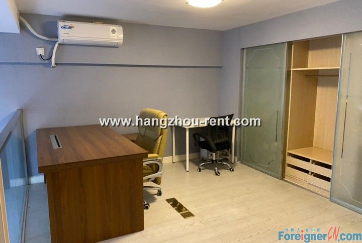 A Modern Loft for Rent in Binjiang Near Jiang Ling Road Metro Station