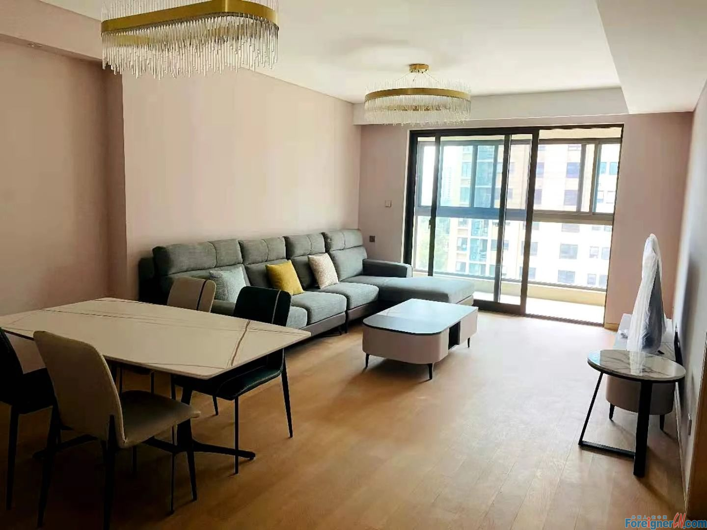 Search for an apartment in Suzhou-heated floor-air exchange system- fully furniture- central AC-near metro -first rent