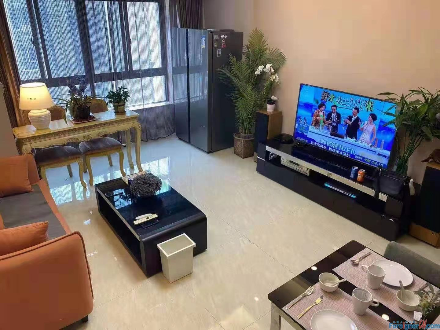 Wonderful Loft in SND to Rent/ Yushan Plaza- 2 bdr and 2 bath; 140sqm/ New decoration-Brand new and Fully furnished/ Walking distance to Huaihai Strret-Convenient public transportation