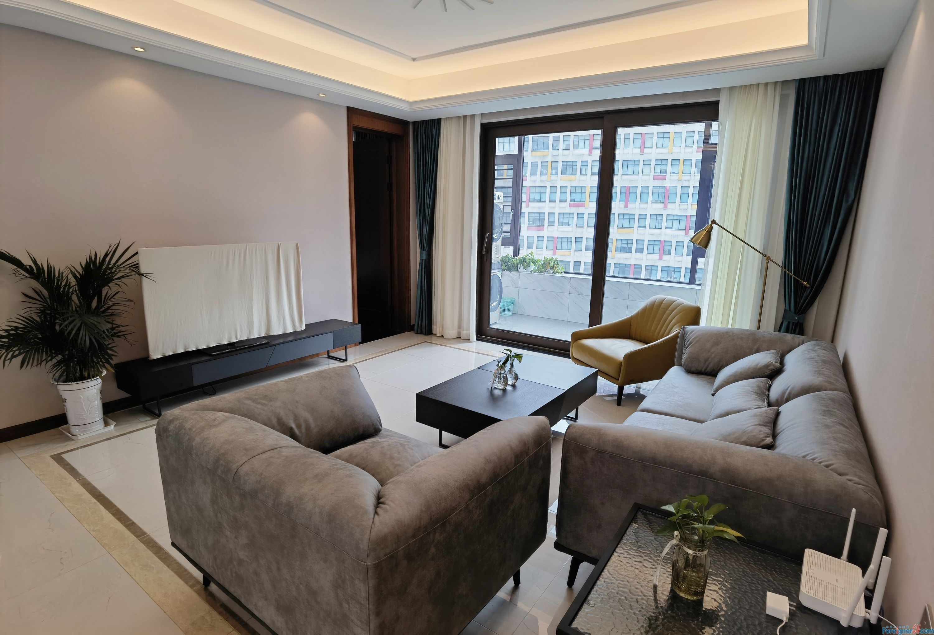 Search for an apartment in Suzhou– floor heating- central AC-oven-cozy decoration with balcony-nearby SSIS and Dulwish - half-opened kitchen
